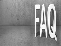 A banner with the letters FAQ